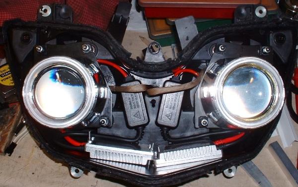 Triumph Tiger Headlight Mods